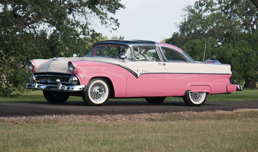 charlie thomas collection 1955 ford crown victoria pink white. Cars Review. Best American Auto & Cars Review