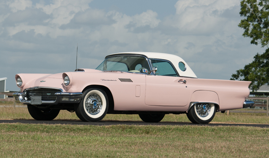 Ford Thunderbird 2018 >> Charlie Thomas Collection - 1957 Ford Thunderbird (Blue->now Pink)